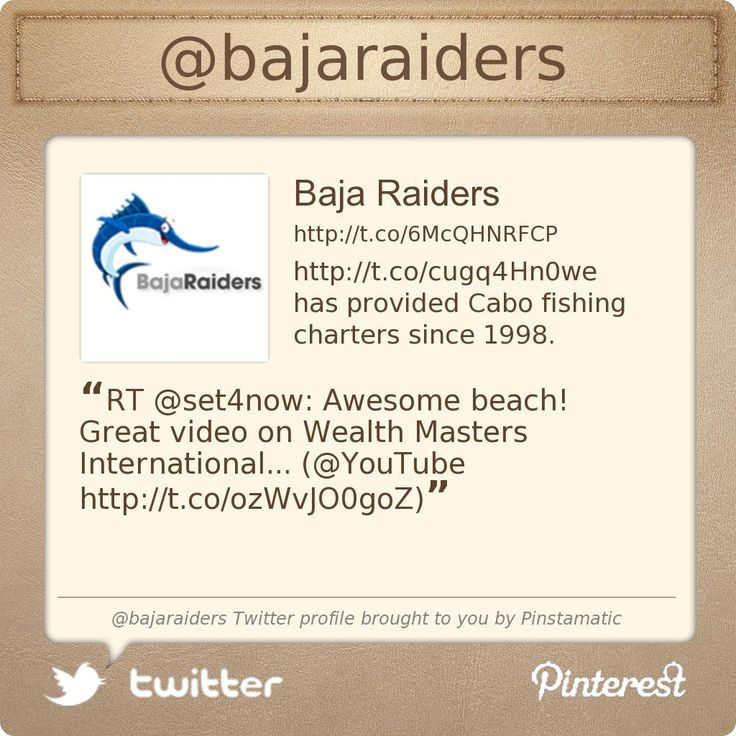 @Baja Raiders's Twitter profile courtesy of @Pinstamatic (http://pinstamatic.com)