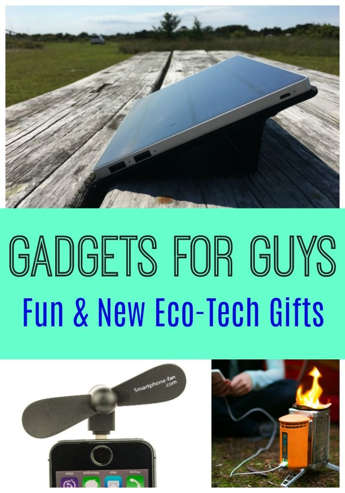 Fun and unique gadgets for guys. These gift ideas are practical and unusual, harnessing the power of eco-friendly technology for cool presents for men.