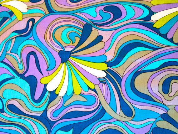 Mod Peter Max Inspired Psychedelic 60s Abstract by KimberlyZ, $14.00 - Fabric possibilities!