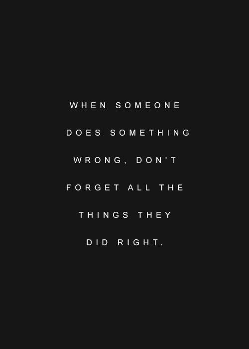 When Someone Does Something Wrong . . .