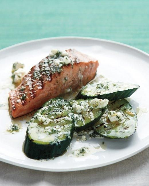 Grilled Salmon and Cucumbers Recipe