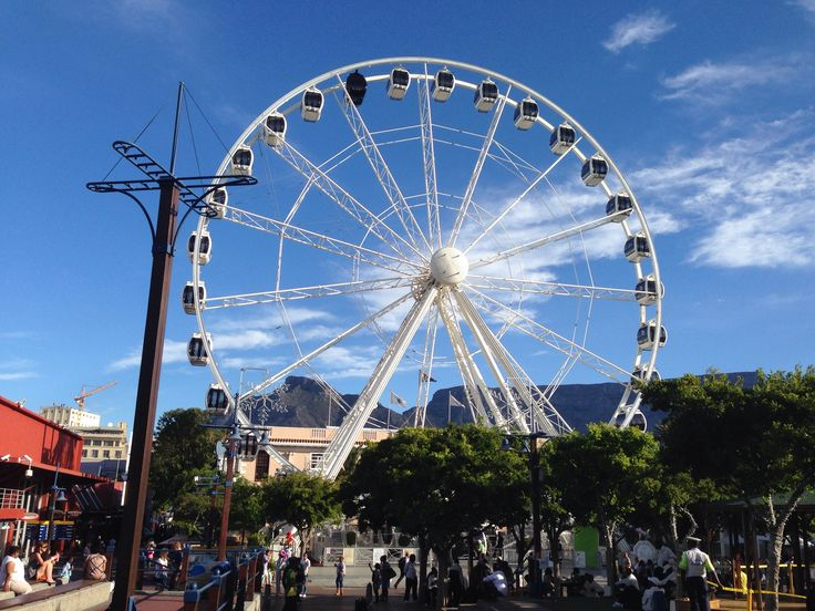 The big wheel at the V&A Waterfront in Cape Town in the Western-Cape , South Africa