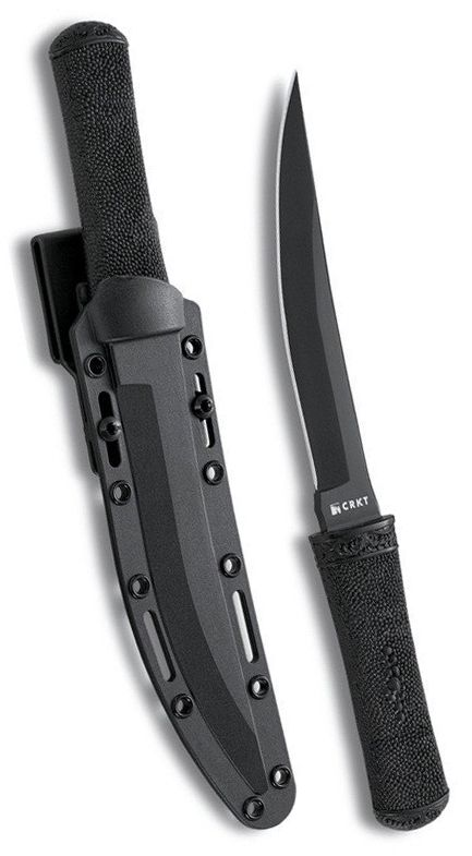 Columbia River Knife and Tool CRKT Hissatsu Ultimate tactical knife and sheath system for use by law enforcement and military professionals Designed by James Williams