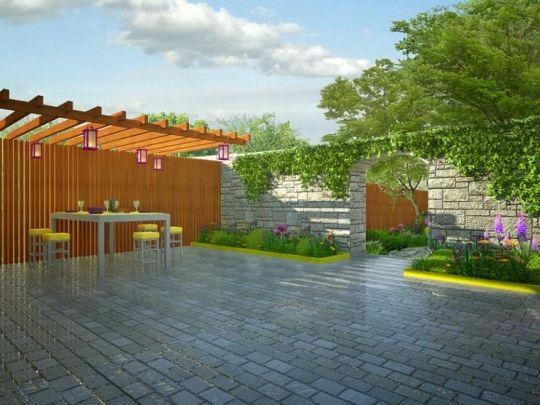 Projekt nowoczesnego ogrodu (www.wmoimogrodzie.com.pl)