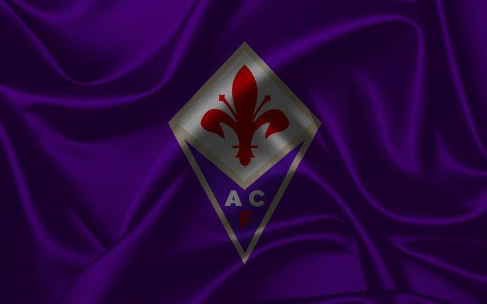 Descargar fondos de pantalla La Fiorentina, club de fútbol, Florencia, Italia, el fútbol, Serie a, el emblema de la Fiorentina