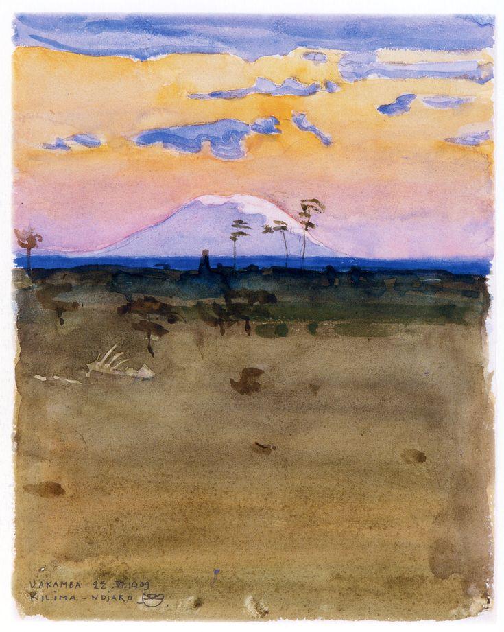 Kilimanjaro at Sunset Akseli Gallen-Kallela - 1909