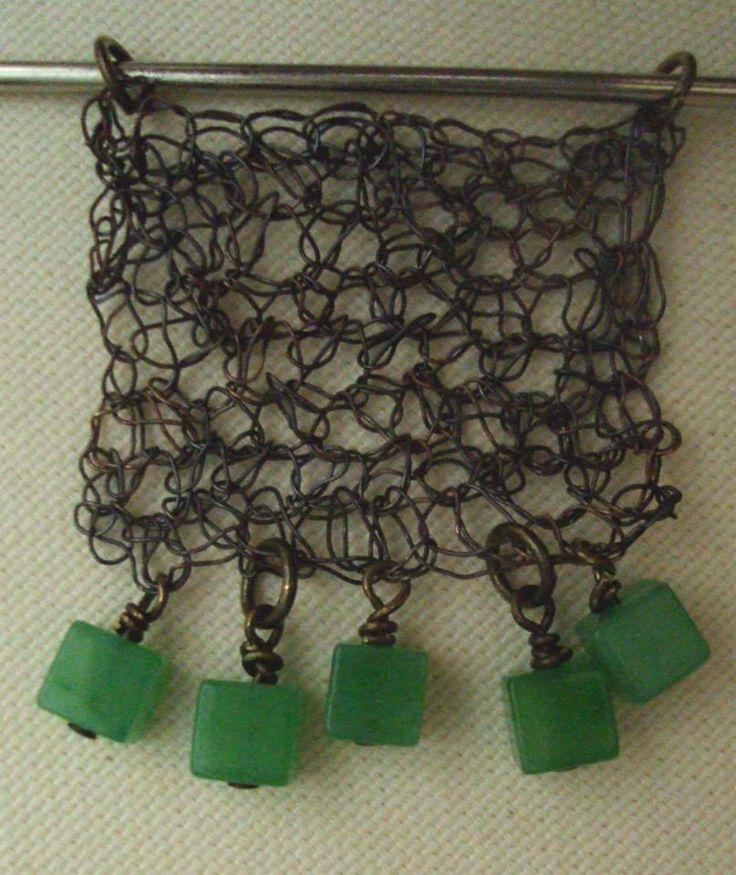 wire crohet pendant