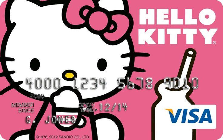 HK  ❣  HELLO KITTY Visa Platinum Reward Card - One of Five Customized Card Designs