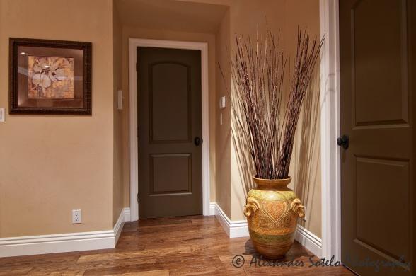 paint the doors brown perhaps??