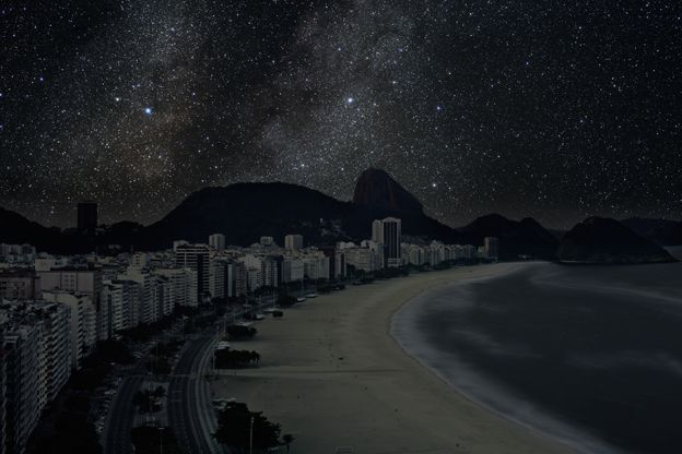 Darkened cities. http://thierrycohen.com/pages/work/starlights.html#