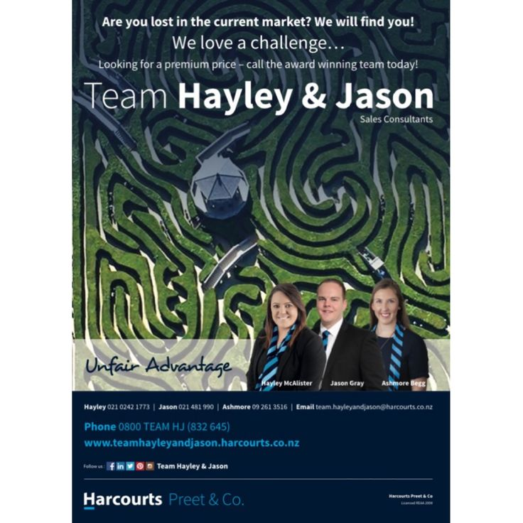 #Southernhomescourier #Teamhayleyandjason #advertising #Harcourts #Weloveachallenge #preetandco