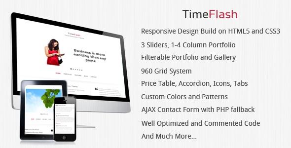 TimeFlash - Clean & Responsive Website Template