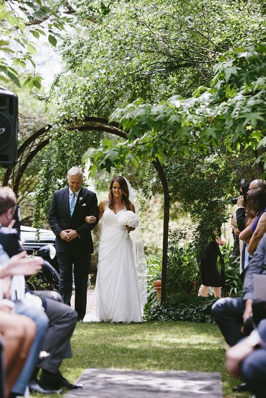 Ceremony in the Gardens @ Chateau Dore by www.lizarcus.com