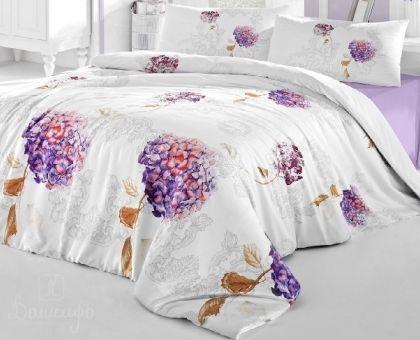 Купить постельное белье RANFORCE HIDRA фиолетовое 50х70 евро от производителя Altinbasak (Турция)