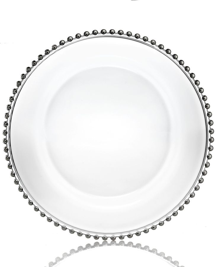 Jay Imports Glass Silver Beaded Charger Plate - Fine China - Macy's