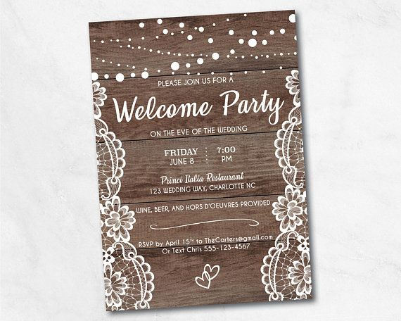 lovely wedding welcome party invitation for 38 wedding party invitation card