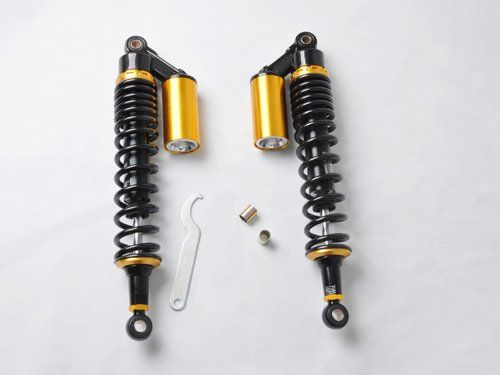 15 3/4 400mm Shock Absorbers For Suzuki Yamaha 450 Raptor 700 660 ATV brand new motorcycle shock absorber set with original package.. 430mm (17) total length. 400mm (15 3/4) eye to eye. Eye Diameter(Bushing): 12mm and 14mm. Spring Width: 60mm(2.4).  #Wotefusi #AutomotivePartsAndAccessories
