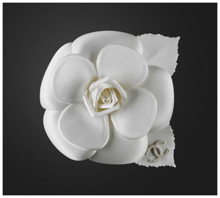 Chanel 18K White Gold Diamond Camellia's Heart Pendant ...
