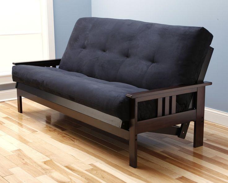 Sectional Sofas Monterey Wood Futon Frame in Espresso by Kodiak Furniture