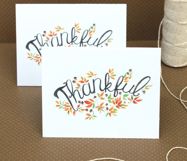 Free Thanksgiving Printables for Your Home and Family: Printable Thanksgiving Cards to Show You Care