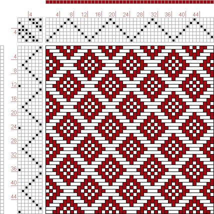 Hand Weaving Draft: Page 122, Figure 26, Donat, Franz Large Book of Textile Patterns, 7S, 7T - Handweaving.net Hand Weaving and Draft Archive