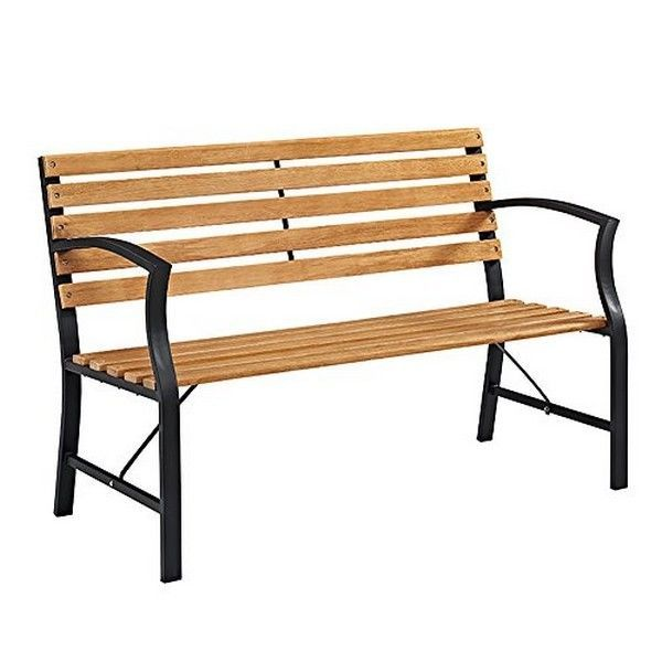 Swell We Furniture Opb48Sl Outdoor Steel Park Bench New Ebay Ocoug Best Dining Table And Chair Ideas Images Ocougorg