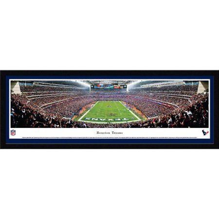 Houston Texans - End Zone at NRG Stadium - Blakeway Panoramas NFL Print with Select Frame and Single Mat