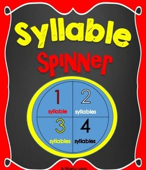 Fun and Interactive! Students can find words that have one, two, three or four syllables.