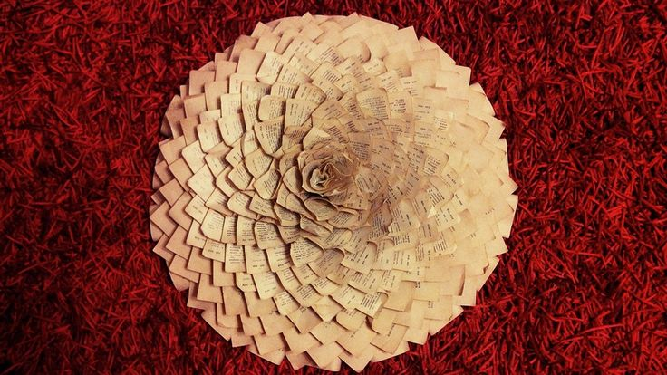A big flower from old books.