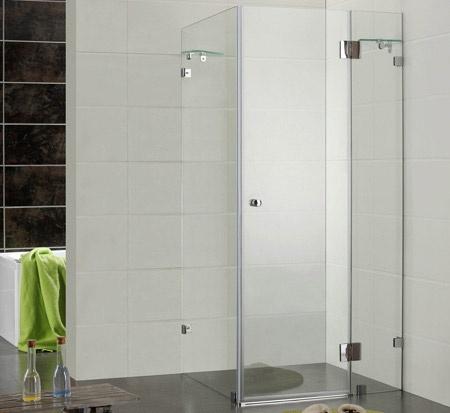 Frameless rectangle shower from $796 @ Bathroom Warehouse