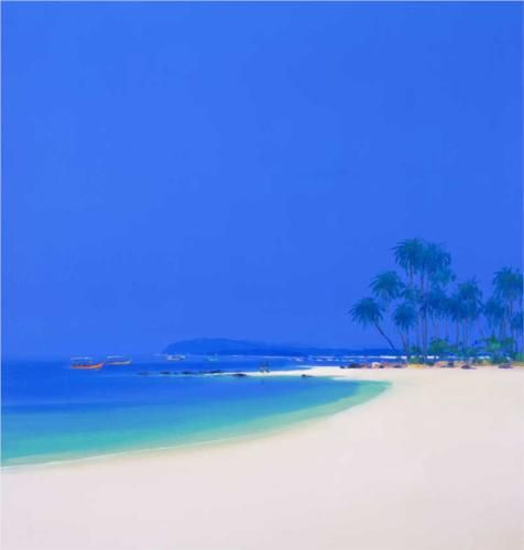 Tropical Beach painted by John Miller