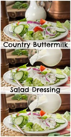 Instead of using store-bought dressing, try our herb-filled Country Buttermilk Dressing. It's a great dressing for all of your green salads!