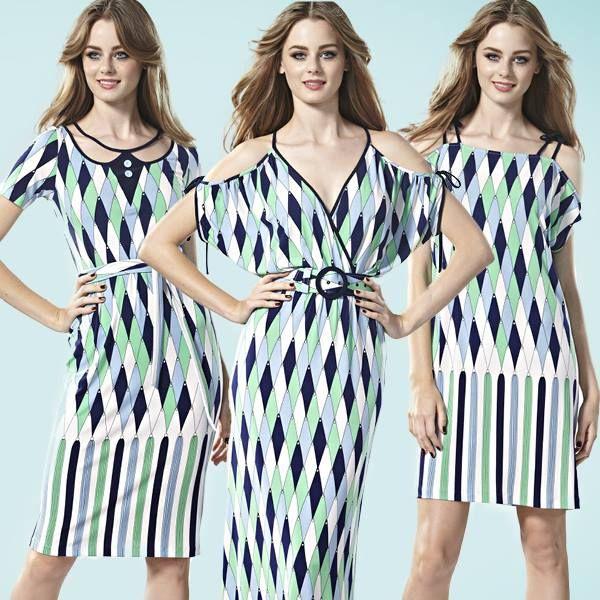 2013 Beautiful Blue Diamond print Leona Edmiston dress