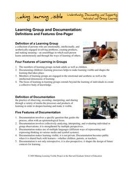 MakingLearningVisibleResources - Documentation Features in Practice
