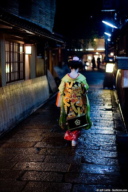 Gion at night: #Kyoto, #Japan