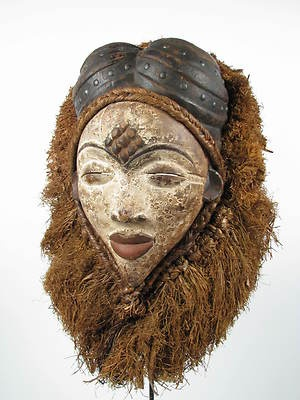 Punu maiden mask from Democratic Republic of Congo Gabon (Gotham Gallery of African Art)