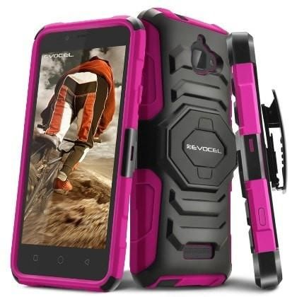 EVOCEL Rugged Armor Holster Coolpad Catalyst Case - Hot Pink