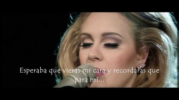 Letra desgarradora, o es muy maraco lo que digo. Adele - Someone Like You (live) (Subtitulada al Español)
