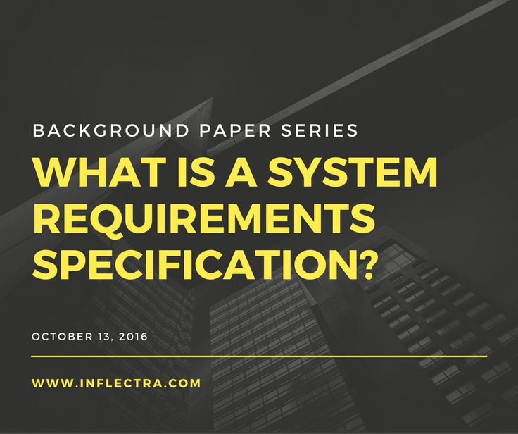 What is a System Requirements Specification? A System #Requirements #Specification (#SRS) (also #Software Requirements Specification) is a document or set of #documentation that describes the features and behavior of a system or #software application. It includes a variety of elements that attempts to define the intended #functionality required by the customer to satisfy their different users.