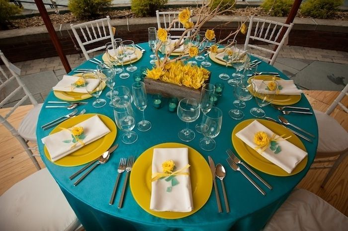 Ideas how to use Turquoise and Yellow for your wedding décor and colour scheme.