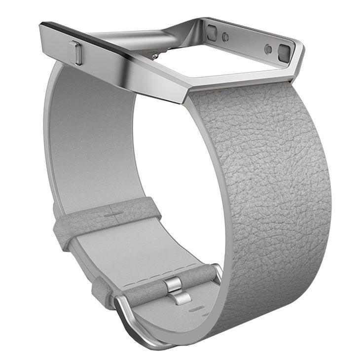 Fitbit Blaze Läderarmband Grey Small - Elektronikk