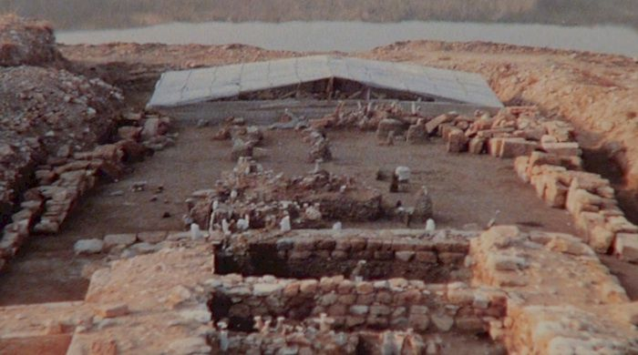 The Ancient Bridge of Amphipolis discovered by Dimitris Lazardis. Greek historian, Thucydides, described the bridge as the place the battle between Kleon and Vrasidas took place in 422 BC.