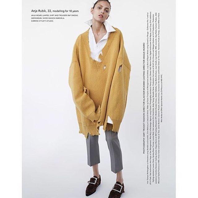 We want this @rafsimons @anja_rubik #menswear #styling #inspo #mustard rg @olgazmiejko #thefrankieshop