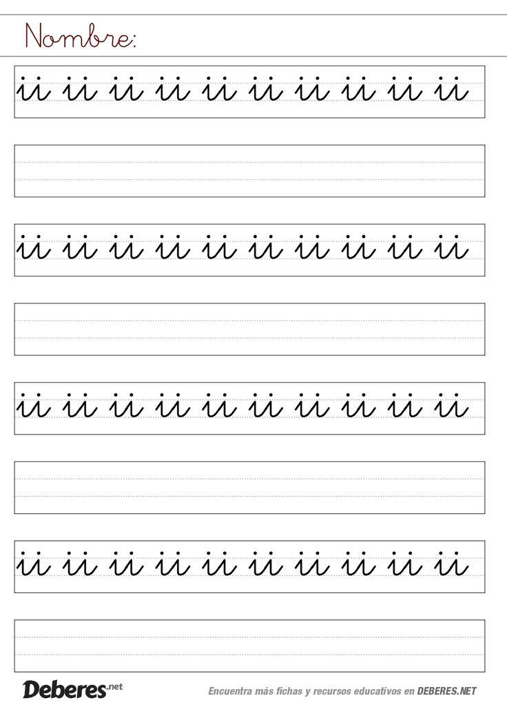 Ficha letras ii unidas pauta montessori