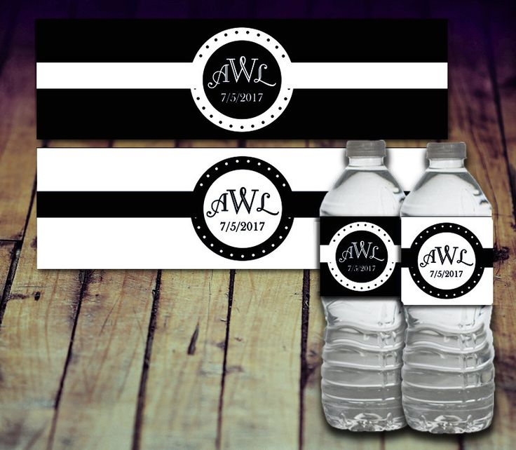 A personal favorite from my Etsy shop https://www.etsy.com/ca/listing/497581758/water-bottle-labels-wedding-water-bottle