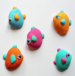 Tropical Shell Fish | AllFreeKidsCrafts.com