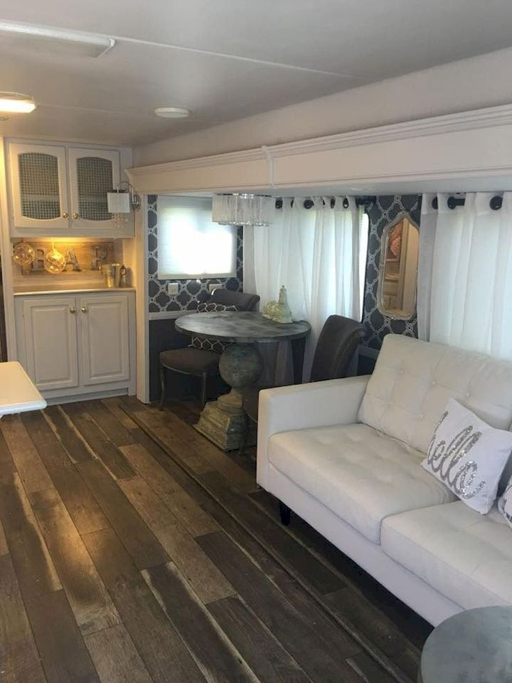 Best Travel Trailers Images On Pinterest Rv Campers - Old shabby trailer gets one hell makeover