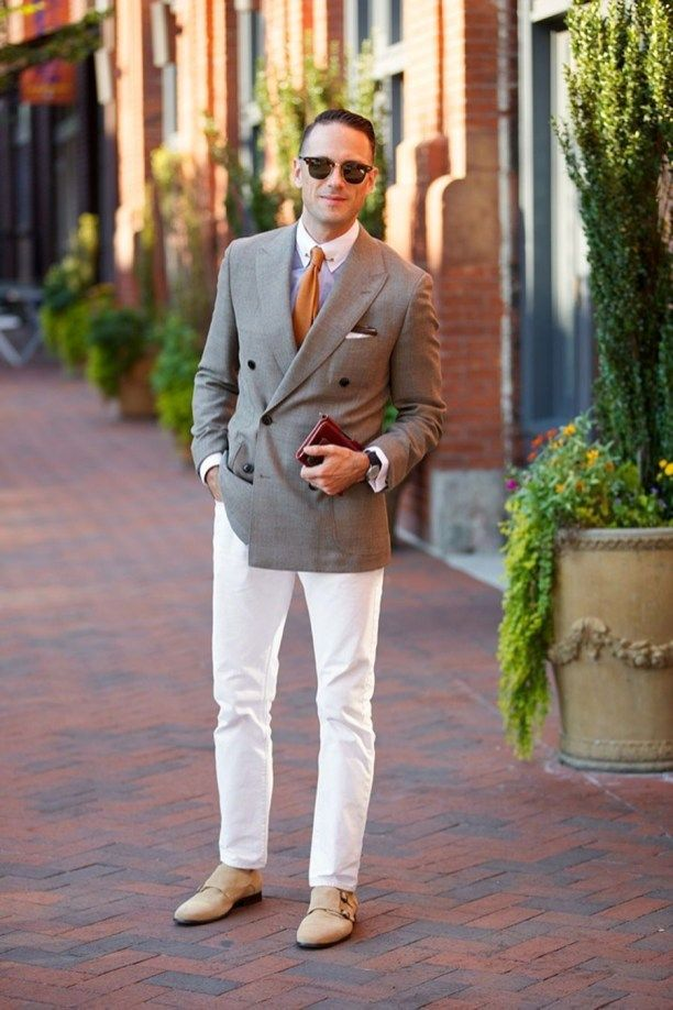 bc3e137fd9d8 How To Wear White Pants Style For Men 19
