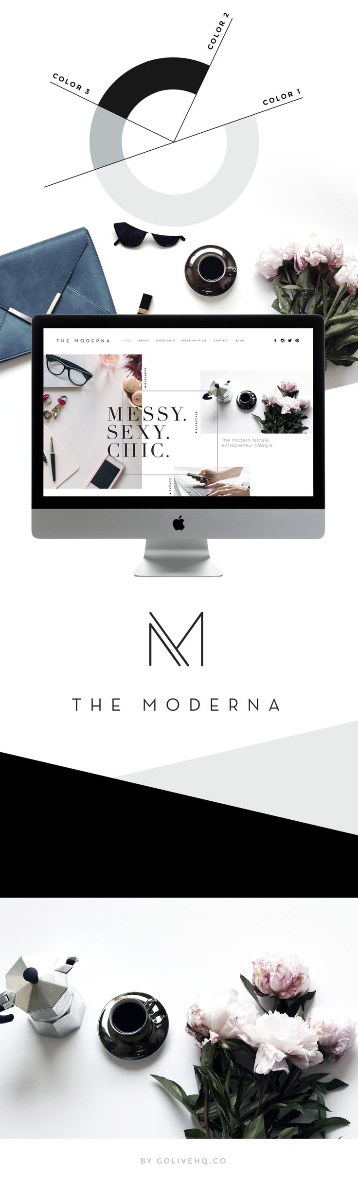 modern squarespace website design | | by GOLIVEHQ.CO It just feels modern to me.