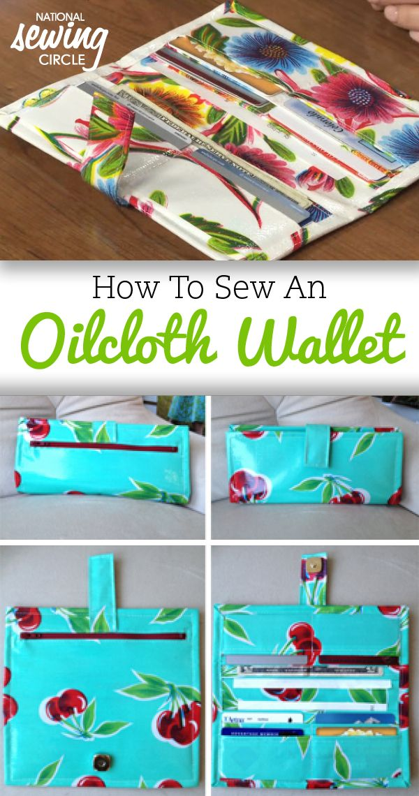 Get started on a new sewing project by downloading our free guide, How to Sew an Oilcloth Wallet! #letssew